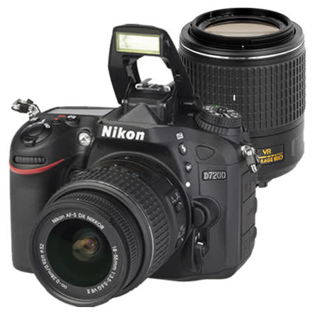 Nikon D7200+18-55mm VR II +55-200mm VR II (中文平輸) - 加送強力大吹球+細毛刷+清潔組+高透光保護貼