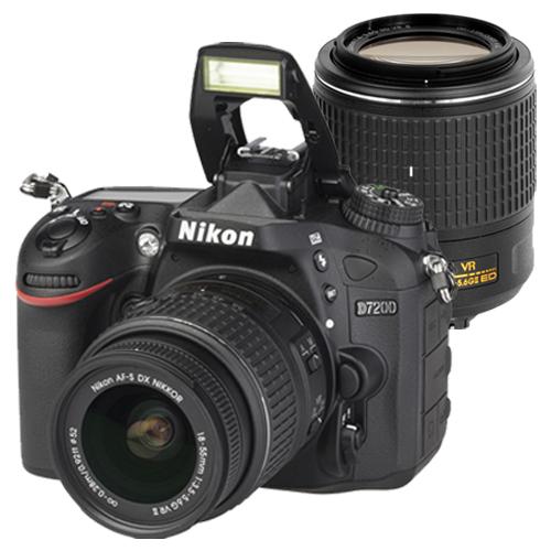 Nikon D7200+18-55mm VR II +55-200mm VR II (中文平輸) - 加送64G-C10+副電+單眼雙鏡包+專屬拭鏡筆+強力大吹球+細毛刷+清潔組+高透光保護貼