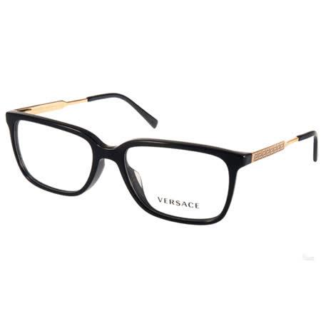 VERSACE光學眼鏡 希臘風圖騰簡約款(黑-金) #VE3209A GB1