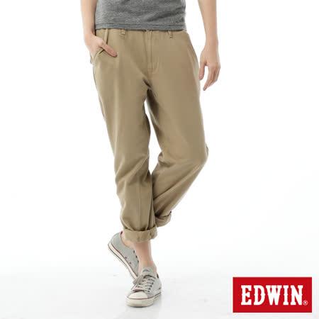EDWIN BOYFRIEND休閒褲-女-淺卡其