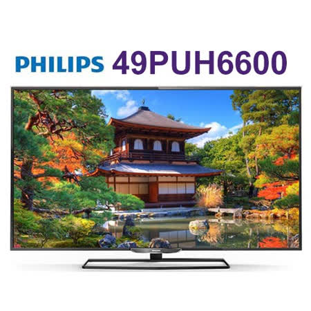 PHILIPS 飛利浦49吋 IPS 4K 聯網液晶顯示器+視訊盒 (49PUH6600) 送創見32G記憶卡*2片+HDMI線