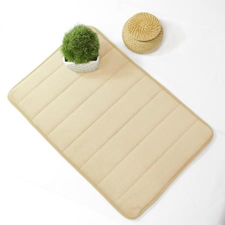 超柔軟回彈止滑地墊/強力吸水地墊/腳踏墊/浴墊/地毯-(米色)58x40cm