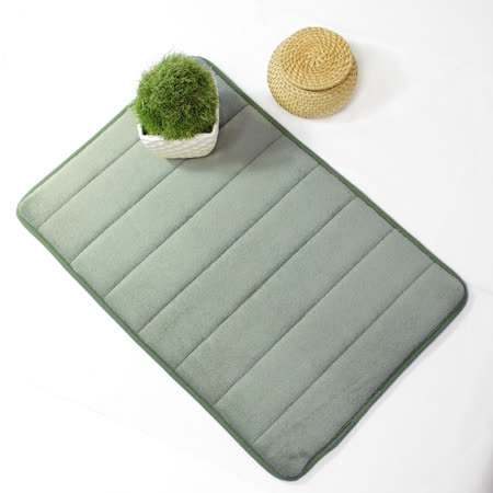 超柔軟回彈止滑地墊/強力吸水地墊/腳踏墊/浴墊/地毯-(灰色)58x40cm