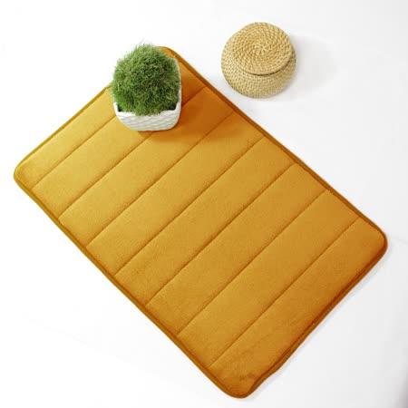 超柔軟回彈止滑地墊/強力吸水地墊/腳踏墊/浴墊/地毯-(淺咖啡色)58x40cm