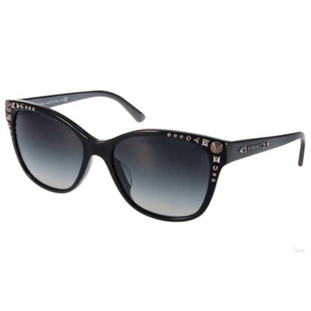 VERSACE太陽眼鏡 華麗古典貓眼款(黑-銀) #VE4270A GB18G