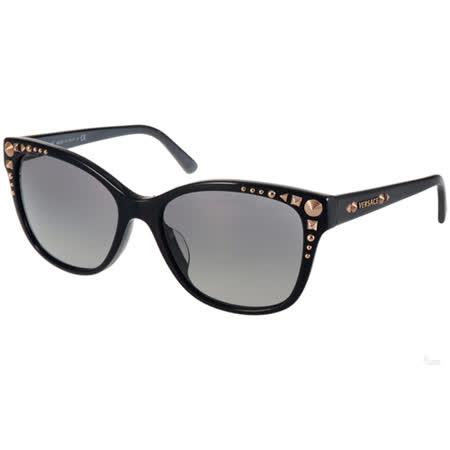 VERSACE太陽眼鏡 華麗古典貓眼款(黑-金) #VE4270A GB111