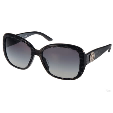 VERSACE太陽眼鏡 華麗古典風大框(亮粉黑) #VE4278BA 51368G