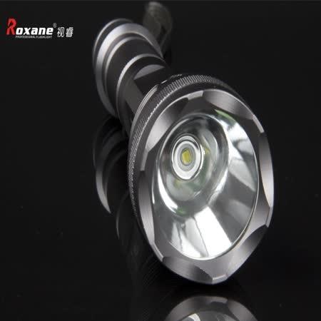 視睿Roxane美Cree XM-L T6強光手電筒K66戰術手電筒(可延長更爆亮,IPx6防水防爆手電筒)
