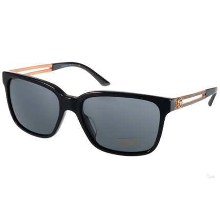 VERSACE太陽眼鏡 復古希臘風方框款(黑-金) #VE4307A GB187