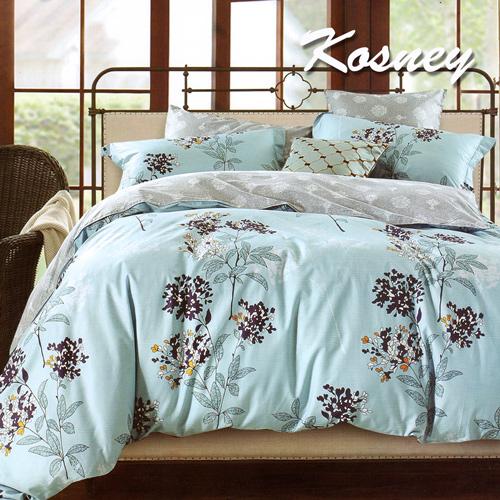 ~KOSNEY 神秘伊甸~藍~雙人精梳棉四件式兩用被床包組