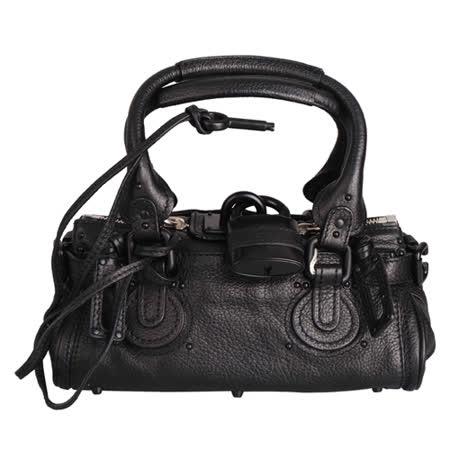 CHLOE 雙頭拉鍊鎖頭造型手提/肩背兩用包(黑)