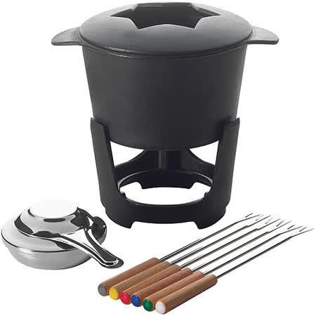 《EXCELSA》附叉+鑄鐵起司鍋組