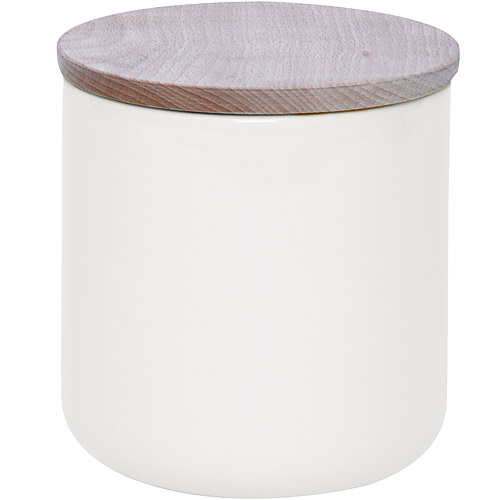 ~EXCELSA~木蓋陶製密封罐^(白800ml^)