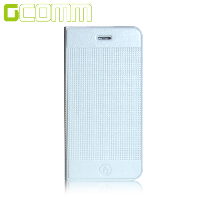 GCOMM iPhone6S/6 4.7吋 時尚凹凸圓點超纖皮套 時尚白