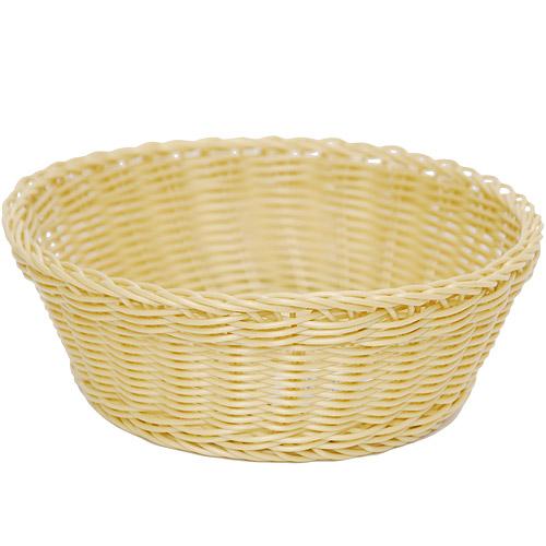 《EXCELSA》圓型編織麵包籃 奶油黃22cm