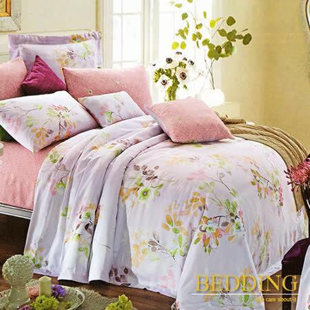【BEDDING】春風戀影 天絲床包雙人兩用被組 100%TENCEL