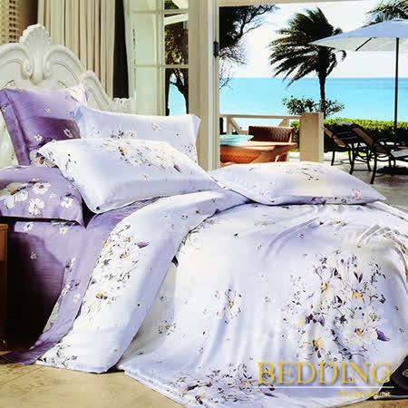 【BEDDING】馨香花顏 天絲床包雙人兩用被組 100%TENCEL