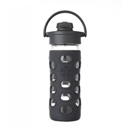美國唯樂Lifefactory 彩色玻璃水瓶-吸嘴350ml 黑色LF284203