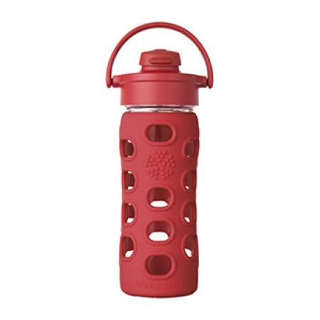 美國唯樂Lifefactory 彩色玻璃水瓶-吸嘴350ml 紅色LF284201