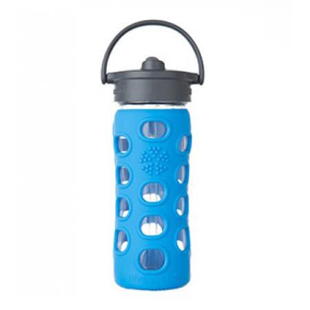 美國唯樂Lifefactory 彩色玻璃水瓶-吸管350ml 淺藍LF281002