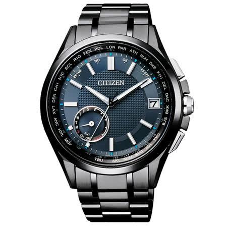 CITIZEN Eco-Drive  未來指標衛星對時鈦金屬腕錶-CC3015-57L