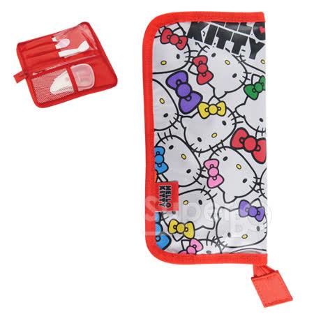 日本Skater外出餐具收納袋-HelloKitty(紅白)