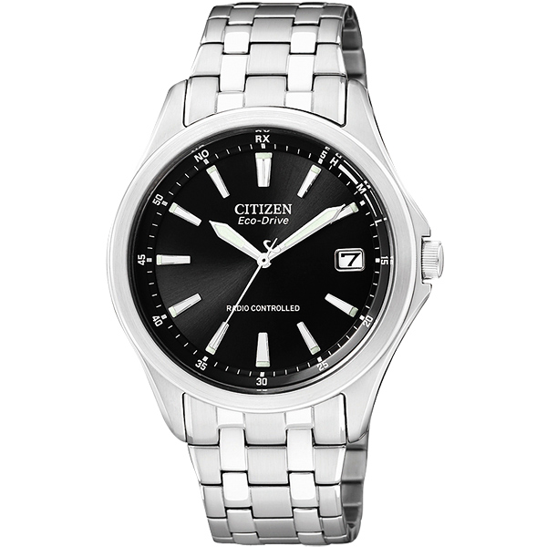 CITIZEN 光動能電波萬年曆 腕錶~黑38mm AS5040~50E