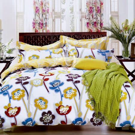 【曇花一現】雙人純棉四件式涼被床包組