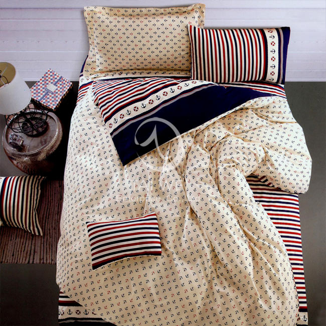 ~羅蘭之約~加大純棉四件式涼被床包組