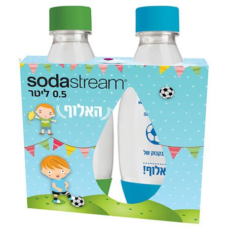 Sodastream水滴寶特瓶500ML-二入(藍+綠)