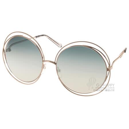 【勸敗】gohappy 線上快樂購Chloe 太陽眼鏡 全球熱銷廣告屬大圓框款(金-漸層藍) #CL114S 734好用嗎大 元 百