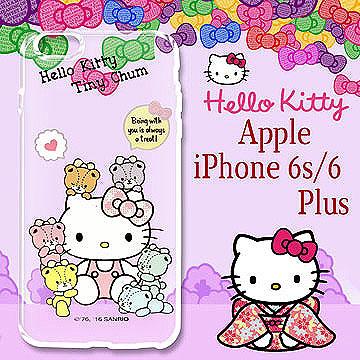 三麗鷗 Hello Kitty 凱蒂貓 iPhone 66s plus 5.5吋 浮雕彩繪