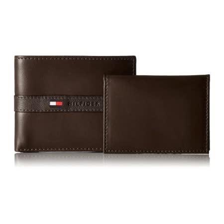 Tommy Hilfiger 2016男時尚Ranger浮雕帶標誌深棕色皮夾【預購】