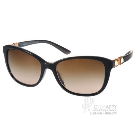 VERSACE太陽眼鏡 華麗浪漫鑽飾款(黑-金) #VE4293BA GB113