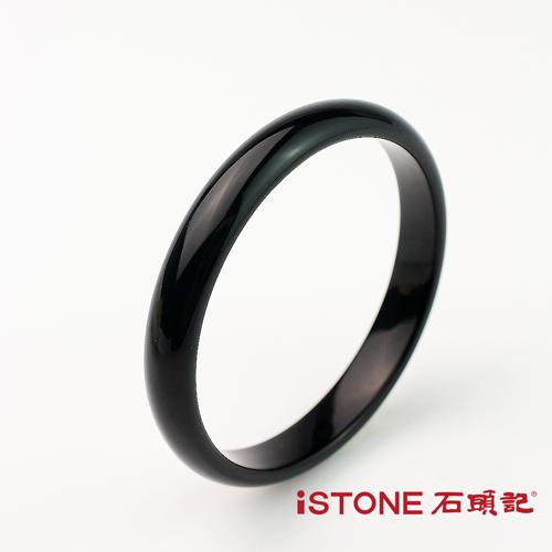 石頭記 個性時尚黑瑪瑙手鐲-窄