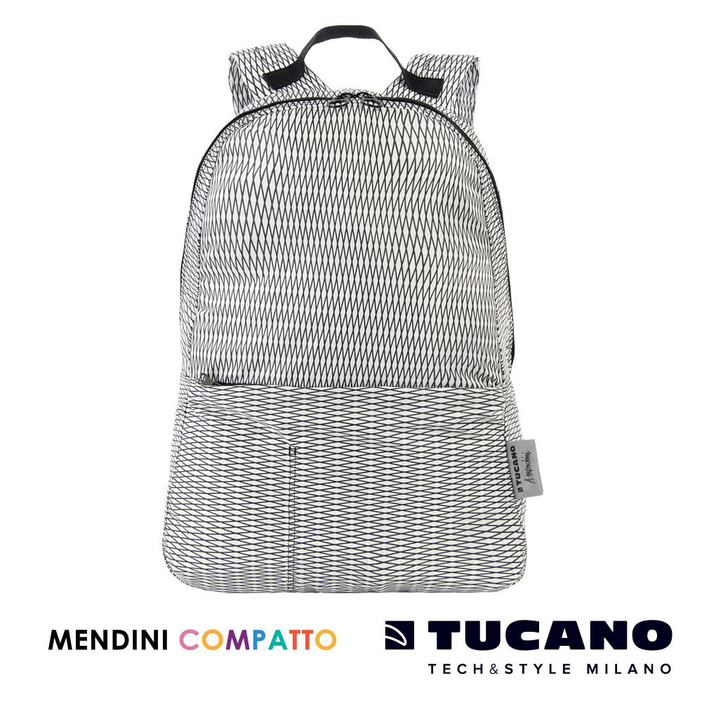 TUCANO X MENDINI 設計師系列超輕量百貨折疊收納後背包(白)