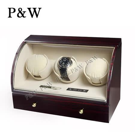 【P&W手錶自動上鍊盒】 【大錶專用】3+3支裝 電子式LED顯示 動力儲存盒 機械錶專用 旋轉盒