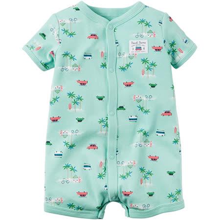 美國 Carter / Carter's 嬰幼兒短袖連身衣_綠色草原_CTRMB001