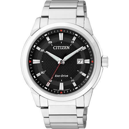 CITIZEN Eco-Drive 都會時尚光動能腕錶-黑/41mm BM7141-51E