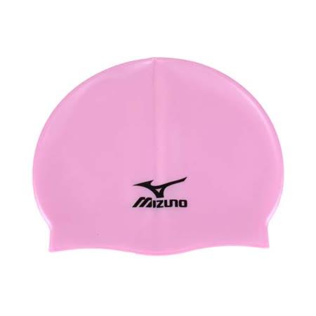 MIZUNO SWIM矽膠泳帽 -彈性泳帽 海灘 戲水 游泳 美津濃 粉紅黑 F
