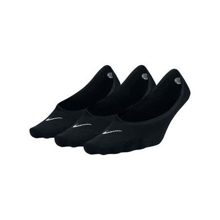 (女) NIKE 三包裝子船襪-短襪 襪子 踝襪 黑白 M