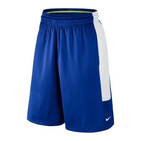 【Nike】2016男時尚Cash籃球皇家藍白色休閒運動短褲【預購】