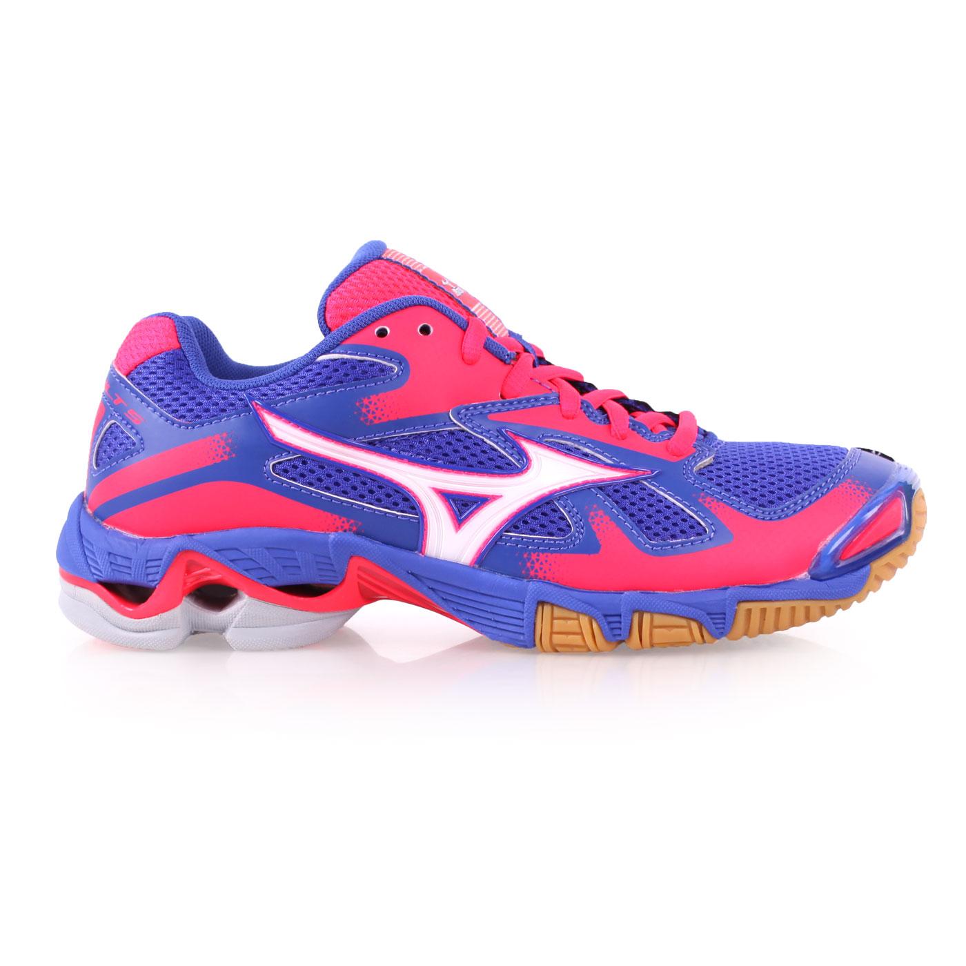 ^(女^) MIZUNO WAVE BOLT 5 排球鞋~ 美津濃 藍桃紅
