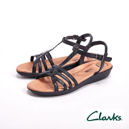 Clarks Manilla Porta夏日羅馬涼鞋 女鞋-黑(另有銀)