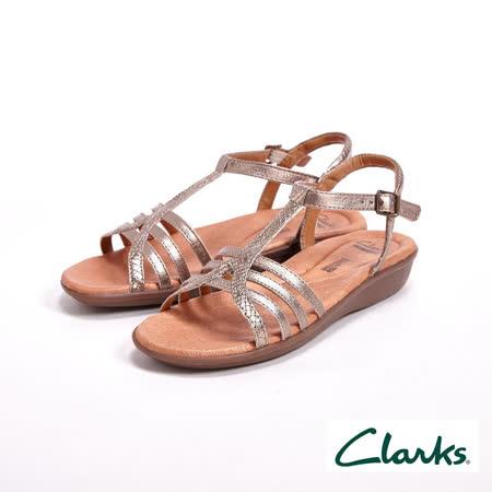 【Clarks】Manilla Porta夏日羅馬涼鞋 女鞋-銀(另有黑)