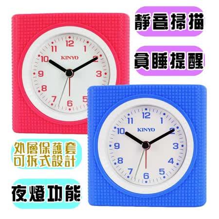 【KINYO】精巧靜音掃描炫彩鬧鐘(TB-701)