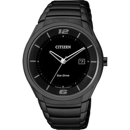 CITIZEN Eco-Drive 品味典藏光動能時尚腕錶-黑/40mm BM6959-55E