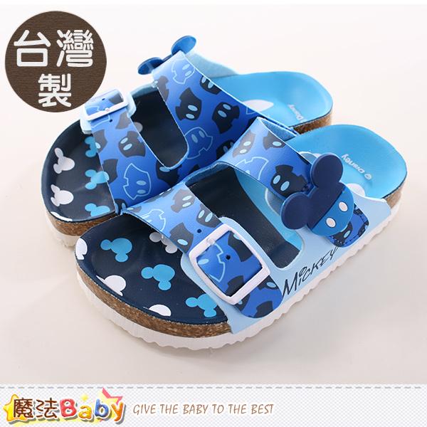 魔法Baby~男童鞋 台灣製迪士尼米奇正版涼拖鞋 sh9667