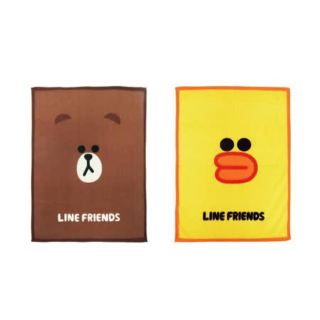 LINE FRIEND正版授權 熊大/莎莉 可愛保暖毛毯