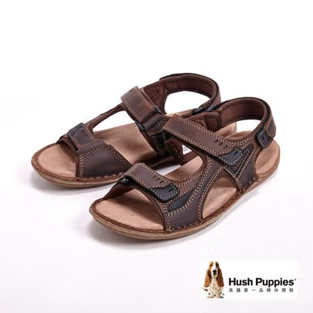 Hush Puppies 男士夏季日常防滑休閒涼鞋-咖(另有黑)